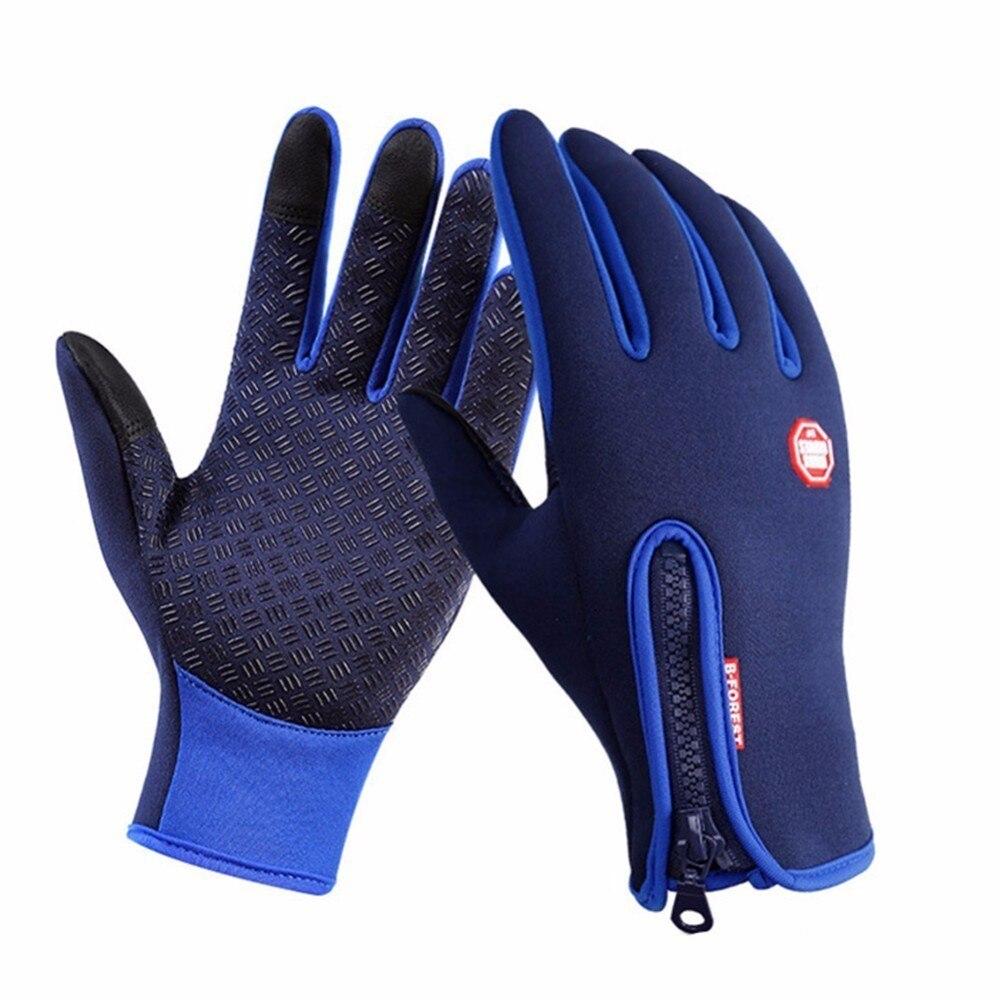 Men Women Ski Gloves Touch Screen Snowboard Gloves Winter Warmer Motorcycle Riding Snow Sports Waterproof Anti-slip Gloves стоимость