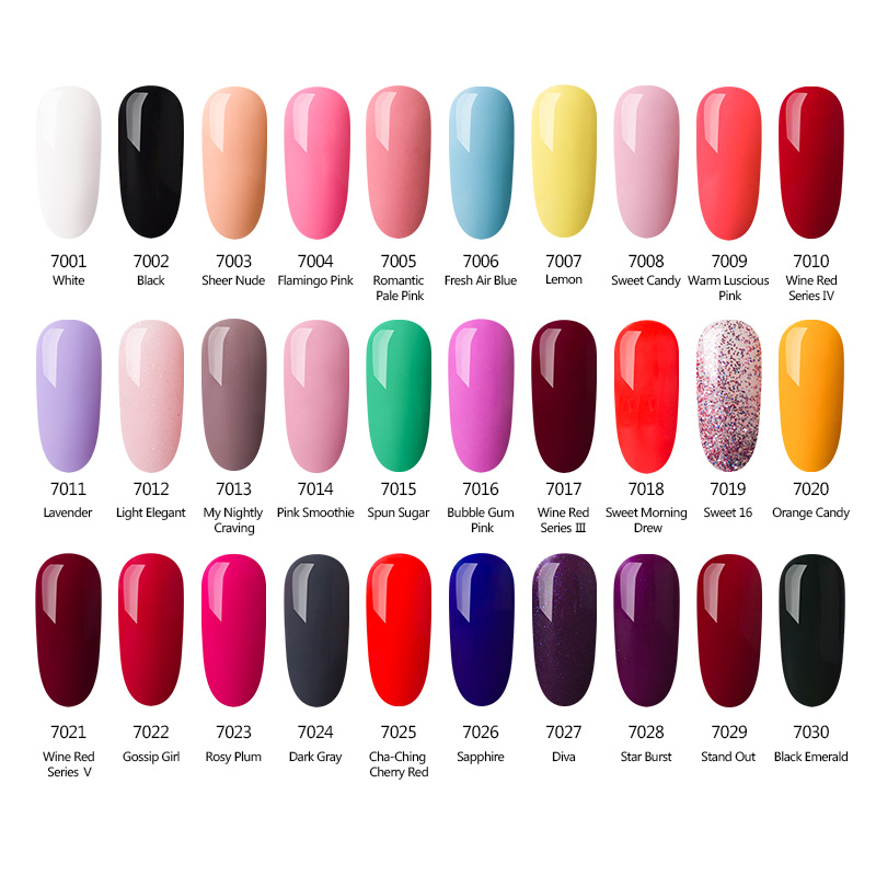 Azure Beauty Gel Polish Nail Varnish Dark Red Color Nail