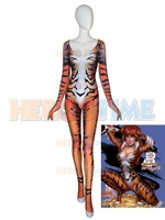 Red Black Cat Cosplay Costume Comics Costume 3D Print Spandex Zentai Bodysuit Halloween Costume for Woman Hot Sale