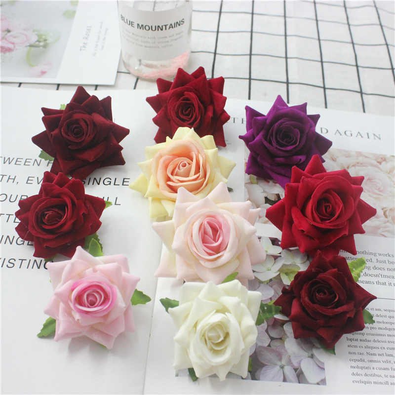 European Touch Real Latex Rose Silk Artificial Flower Bouquet Bridal Bridesmaids Hydrangeas Flower Wedding Home party Decoration