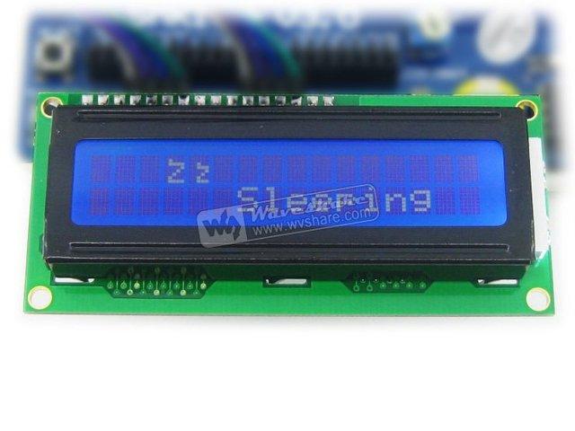 Módulo LCD Caráter LCD1602 16 Caracteres * 2 Linhas TN Caráter Branco Luminoso azul 5 V Para O Circuito de Lógica/STN mode