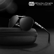 W&E Pilot Men Sunglasses Retro Brand Classic Polarized Coating UV400 Gray Lens Aviation Driving Women