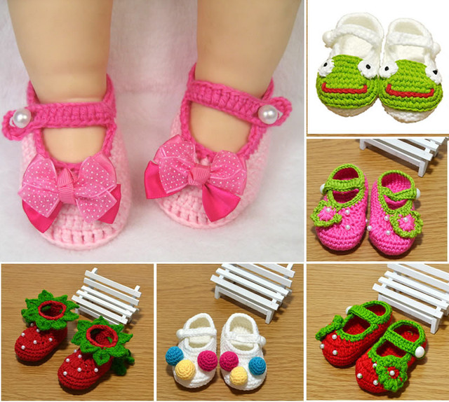 Newborn Baby Girl Infant Toddler Baby Girl Children Baby Infant Girls Newborn Handmade Crochet Knit Crib Shoes Cack Prewalkers