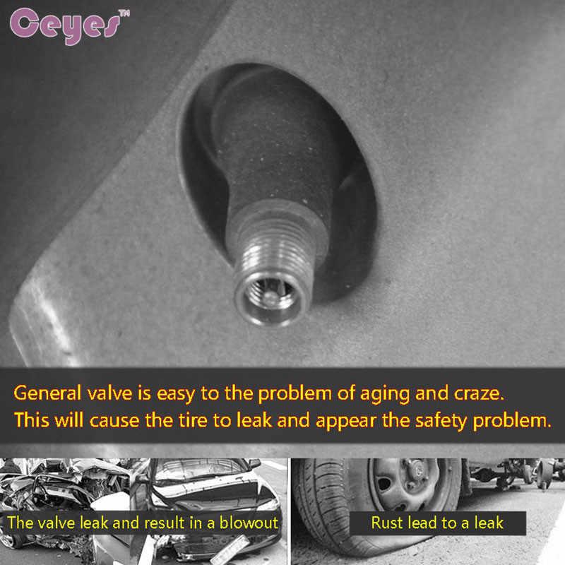 Ceyes voiture-style Air pneus vannes voiture roue pneu casquettes cas pour Toyota Alphard Corolla Avensis Camry 2007 accessoires voiture style