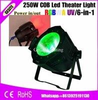 6 шт./лот производитель профессиональной сцене Disco DJ RGBW 4IN1 COB LED 200 Вт интеллектуальные PAR Light 250 Вт