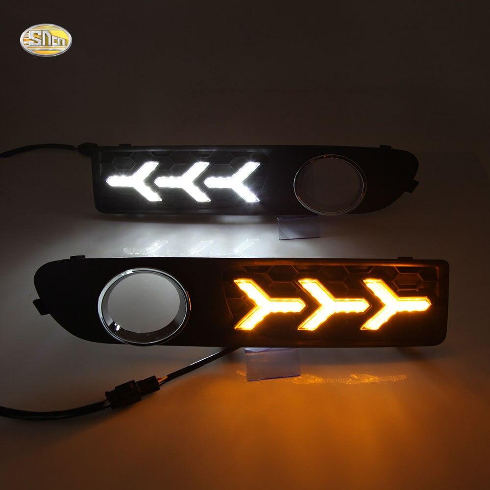 SNCN LED Daytime running lights for Volvo S80 2009-2013 Driving lights fog lamp cover sncn led daytime running lights for suzuki swift 2013 2014 2015 2016 drl fog lamp cover 12v abs