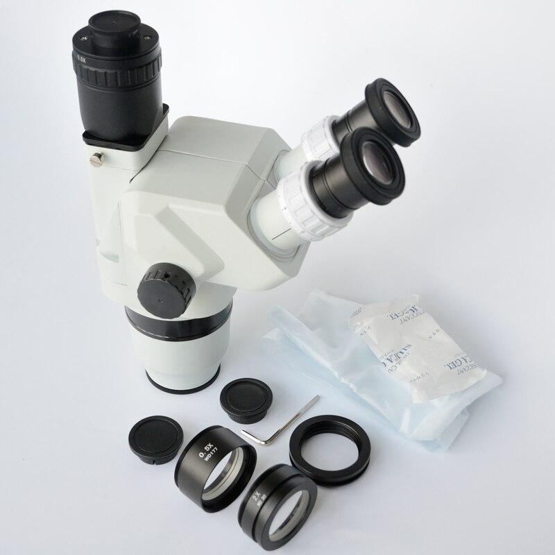 FYSCOPE 3.35X-90X Ultimate Confocal Trinocular Stereo Zoom Microscope Head SZ2.0X &SZ0.5X