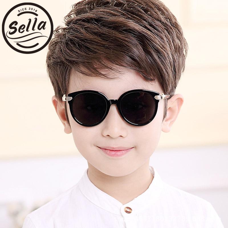 Sella New Children Polarized Cateye Sunglasses Fashion Kids Summer Colorful Mirror Coating Handsharp Baby Sun Glasses Eyewear
