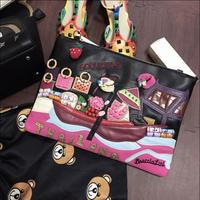 Braccialini S Same Designer Women S Genuine Leather Envelope Bag Day Clutch Vintage Handbag Preppy Style