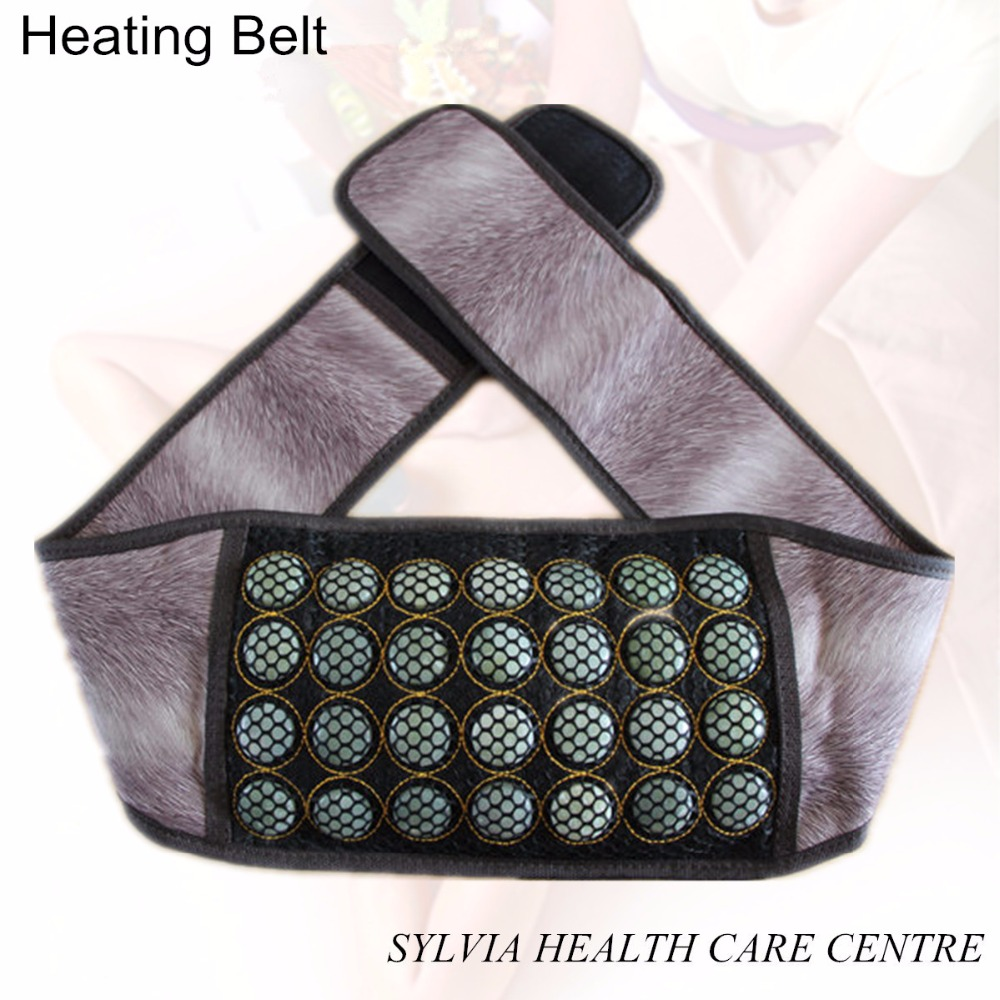 Electric Heated Jade belt PU Leather Tourmaline heating sleeping Infrared Therapy heating jade belt for waist support high quality with usa knowles earphone hearing aid for deaf s 268 feie bte headset hearing aid drop shipping
