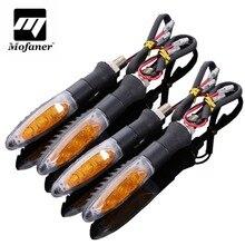 4 шт. 12 В черный мотоцикл светодио дный поворотник желтый индикатор Light гибкие небьющиеся лампы
