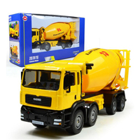 Children Toy Model Alloy Car Concrete Mixer Truck Scale 1:50 Diecast Model Engineering Vehicle Miniature Classic Toys Boys Gifts