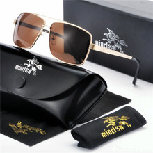Модные Классические поляризационные солнцезащитные очки мужские очки для вождения поляризационные линзы солнцезащитные очки мужские винтажные прямоугольные очки UV400 FML