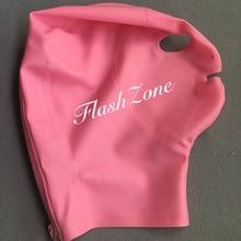 Розовая латексная маска Крышка головки