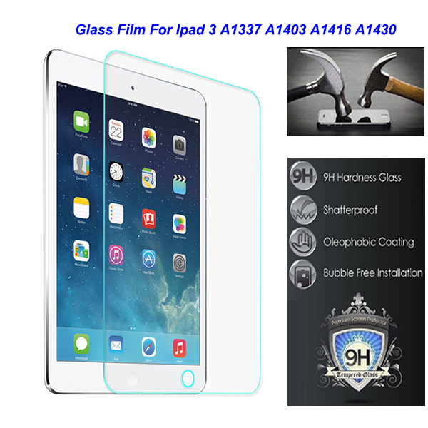 """bilder für Für Apple Ipad 3 Ipad3 A1337 A1403 A1416 A1430 Sicherheit 9,7 """"0,3mm Ausgeglichenes Schutzglas Film auf Tablet"""