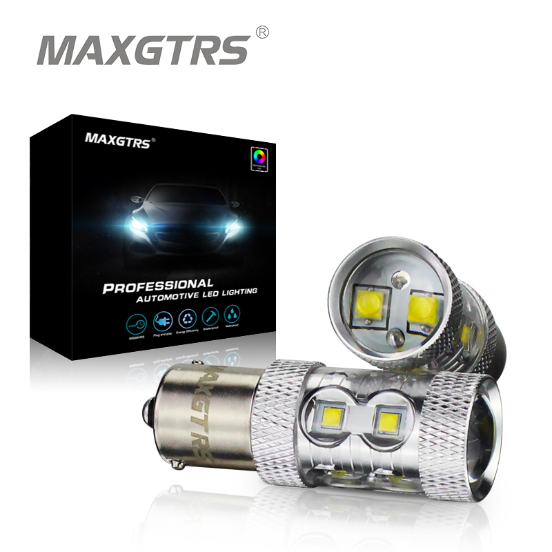 Чип 2х КРИ xbd 50 Вт 1156 P21W s25 обратные белый/желтый/красный светодиод Обратный Лампа резервного копирования Обратный Лампа BA15s Сид 360 градусов Источники света