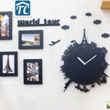 Creative World Tour Wall Clock Living Room Modern European Fashion List Mute Children s Bedroom Individuality