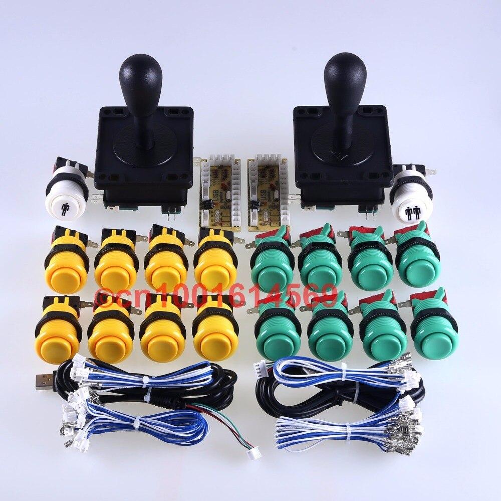 Arcade USB Games Games 5V Encoder Board + 2 x Arcade Stick + 18 x HAPP Stype Action Button (زر الخروج) Mini Arcade Machine