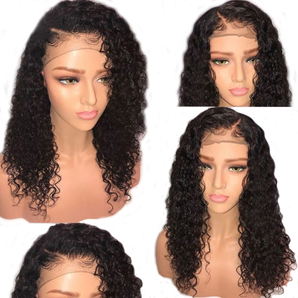 Eversilky Silk Base Top Lace Front Wig With Baby Hair Glueless Lace Front Curly Human Hair Wigs Brazilian Remy Hair Wig