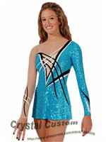 Crystal Custom Child Figure Competition Dress Beautiful New Brand Vogue Ice Skating Dresses For Competition G2825