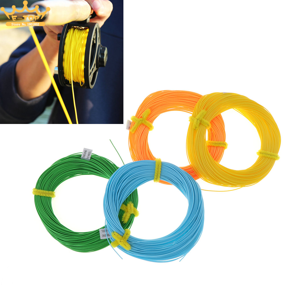 4 Colors Optional 100 Feet WF4F Weight Floating Fly Fishing Line Forward Polyethylene Fly Fishing Cord