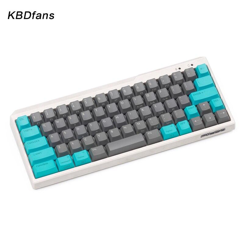 Black PBT blank white gray mechanical keyboard filco minila air thick PBT white side print keycap cherry mx OEM blac 3u sapcebar white black 100
