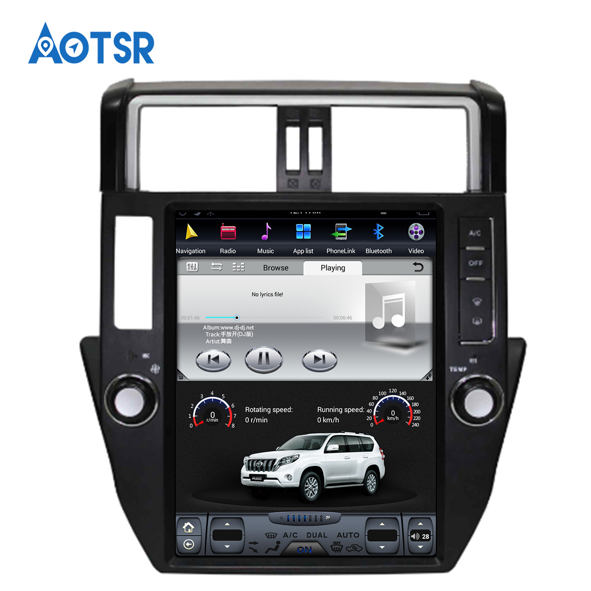 Android 8 Tesla style <font><b>Car</b></font> No DVD Player GPS Navigation <font><b>For</b></font> <font><b>TOYOTA</b></font> Land Cruiser <font><b>Prado</b></font> <font><b>150</b></font> <font><b>2010</b></font>-2013 headunit multimedia <font><b>radio</b></font> IPS image
