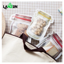 Lanzon Storage Zipper Bag Waterproof Plastic Food Grade ZipLock Fridge Freezing Food Storage Pouch Fresh Keeping Wrap Organizer(China)