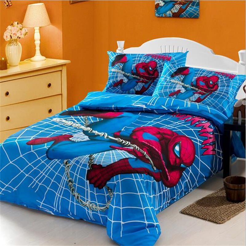 popular spiderman comforter buy cheap spiderman comforter lots from china spiderman comforter. Black Bedroom Furniture Sets. Home Design Ideas