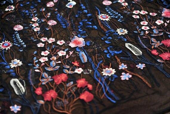 Denim Pure Cotton Fabric Daisy Prints Fl Flowers Sew For Top