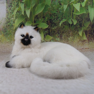 simulation cute lying cat 30x21x16cm model polyethylene furs cat model home decoration props model gift d704
