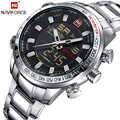 NAVIFORCE 高級ブランドファッションスポーツ腕時計防水ステンレス男性腕時計メンズクォーツアナログ腕時計レロジオ Masculino
