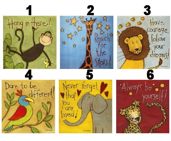 aliexpresscom buy 6 piece animal canvas paintings lion elephant modern wall art decorative picture for kids room decoration paintings no frame from