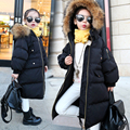 3-14 Years 2016 Girl Parkas Winter Coat Teenagers Warm Fur Hooded Jackets For Girls Kids Teens Meisjes Winterjas Doudoune Fille