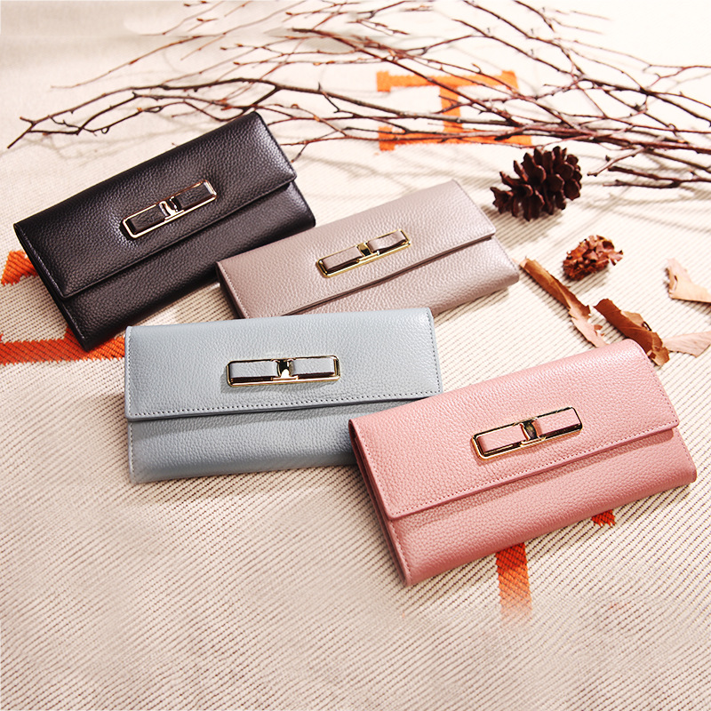 Real Genuine Leather Women Wallets Brand Designer High Quality Cell phone Card Holder Long Lady Wallet Purse Clutch nawo real genuine leather women wallets brand designer high quality 2017 coin card holder zipper long lady wallet purse clutch
