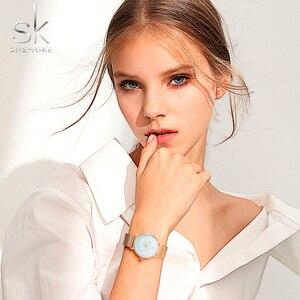 Image 2 - Shengke Vrouwen Mode Quartz Horloge Lady Mesh Horlogeband Hoge Kwaliteit Casual Waterdicht Horloge Gift Voor Vrouw 2020