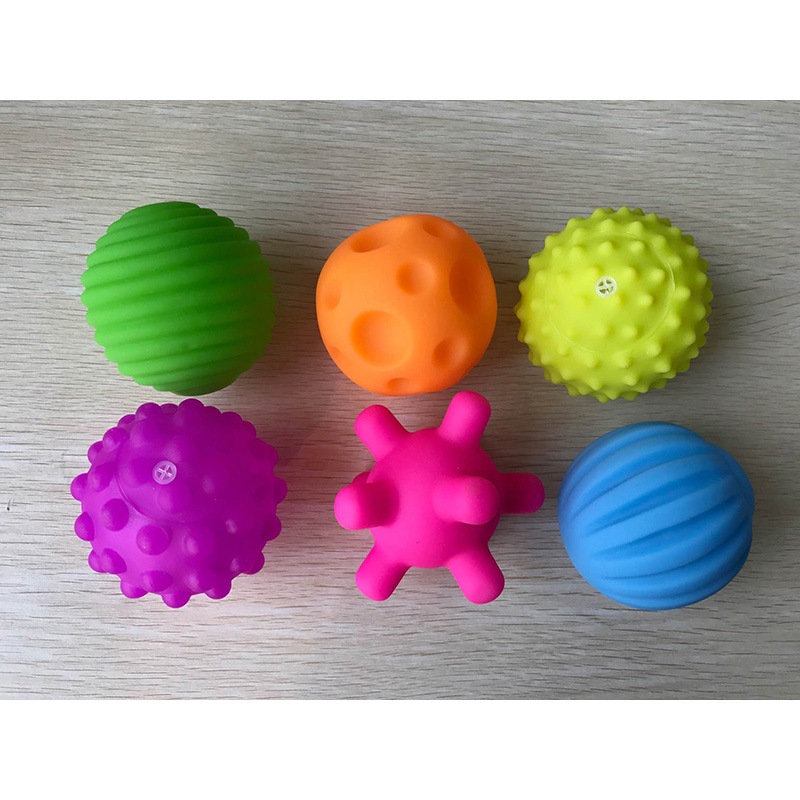Children Ball Hand Sensory Baby Toy Rubber Textured Multi Tactile Senses Touch Toys Baby Training Massage Soft Balls #1