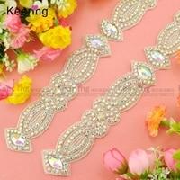 Handmade Pretty AB Color Crystal Trim For Ladies Dress WRA 690