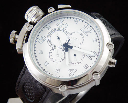 50mm Parnis white dial Big Face Lefty automatic movement men's watch
