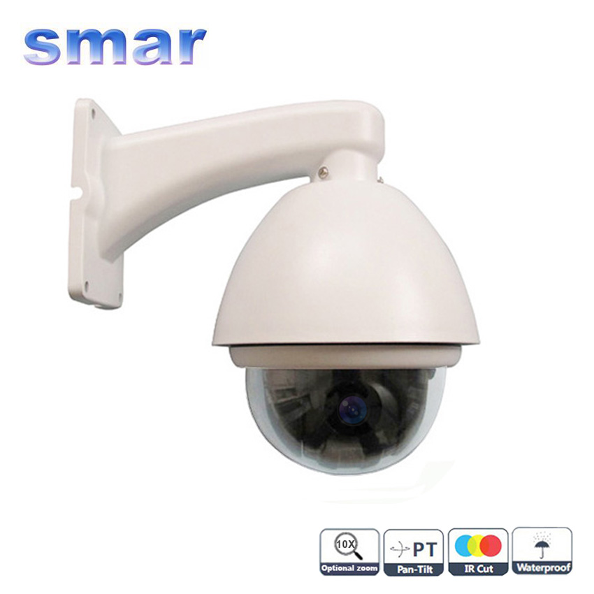 CCTV Hottest 10X Optical Zoom IP66 1/3Super HAD II Sony CCD Effio-e 700TVL Outdoor Mini High PTZ  Camera Via DHL  Free cctv 1 3 sony 700tvl 300x zoom 10x optical zoom 10x digital zoom dsp color video metal shell box camera auto focus