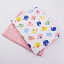 Напечатанная хлопко-бумажная ткань милые птицы для DIY пэчворк Стегальные детские ткани Подушки Покрывало пошив текстиля ручной работы