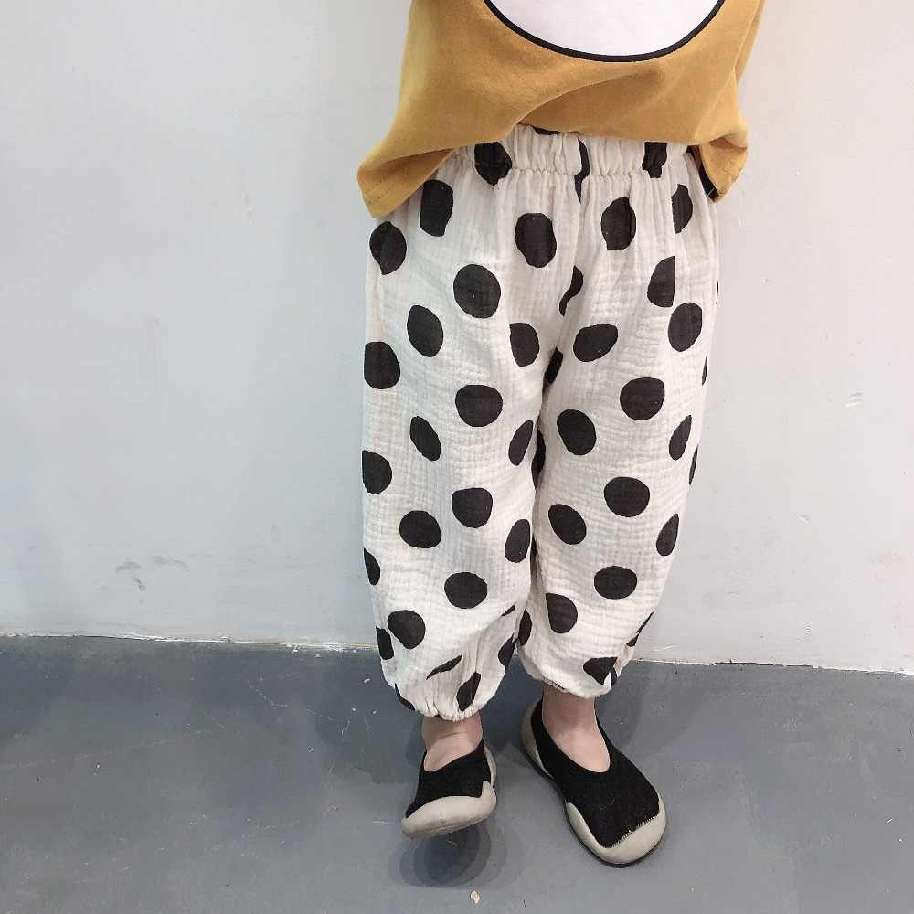 b08a44a72 2019 Spring and Summer Toddlers Kids Loose Pants Dots Printed Soft Korean  Style Baby Girls Boys