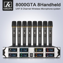 Professional wireless microphone 8000GTA UHF 8-channel fixed frequency dynamic screen display KTV conference vocal microphone все цены