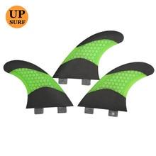 цена на Surf FCS Fins G7 Size Quilhas FCS Surfboard Bicolor Fiberglass Honeycomb Fin Good Quality SUP Board Fins