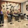 Beibehang Salon Hair Salon Beauty Salon Hairdressing Shop Nostalgic Retro Makeup Background Wall Custom Large Fresco
