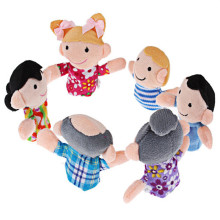 Mini Cute Funny Finger 6Pcs Puppets Story Figure Baby Plush Biological Play Learn Family Telling Tale Kids Children Toy
