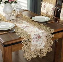 Embroidered Luxury European Table Runner Lace tea lace table cloth cover towel home Christmas tablecloth placemat Wedding decor