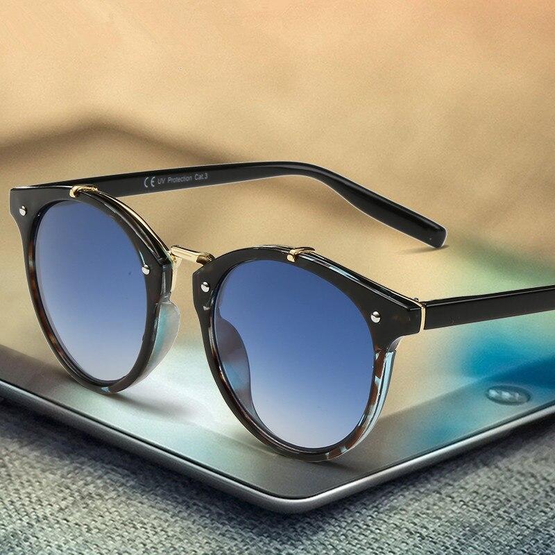 2019 Classic marca diseñador gafas de sol mujeres hombres ronda Retro gafas de sol mujer sombras espejo gafas señora mujer hombre sol