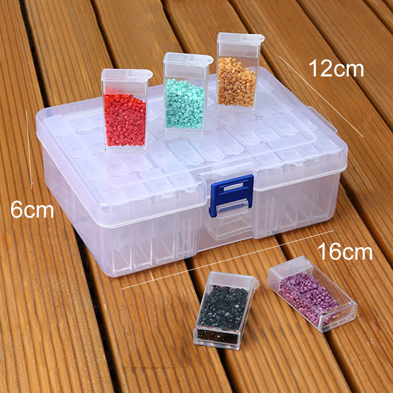 42 Cells Diamond Painting Tools Beads Container Rhinestone Storage Box Diamond Painting Accessories Tools Home Storage Box