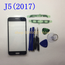 Replacement LCD Front Touch Screen Glass Outer Lens For Samsung Galaxy J5(2017) J5 pro j530 j530f J5pro+sticker + tools